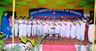 Indo American College of Nursing Moga Lamp Lightning Ceremony